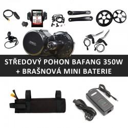Středový motor BAFANG 8FUN 350W + brašnová mini baterie