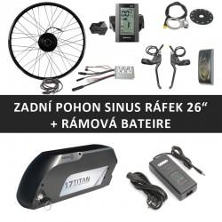 """26"""" - Zadní motor SINUS 250W + rámová baterie"""