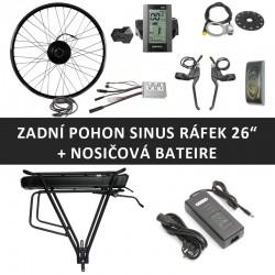"""26"""" - Zadní motor SINUS 250W + nosičová baterie"""