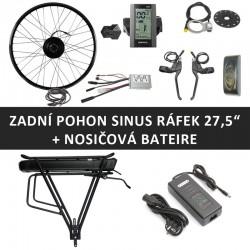"""27,5"""" - Zadní motor SINUS 250W + nosičová baterie"""