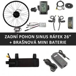 """26"""" Zadní motor SINUS 250W + brašnová mini baterie"""