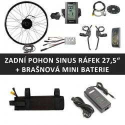"""27,5"""" Zadní motor SINUS 250W + brašnová mini baterie"""