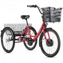 Elektrická tříkolka Leader Fox LOVELO – červená – pláště...