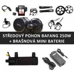 Středový motor BAFANG 8FUN 250W + brašnová mini baterie